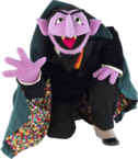 Count von Count kneeling